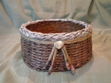 Basket With Paper - upcycled paper baskets