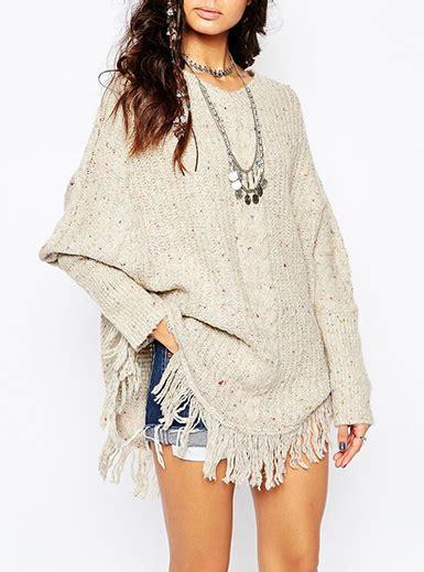oatmeal colored sweater womens oversized sweater fringe oatmeal colored