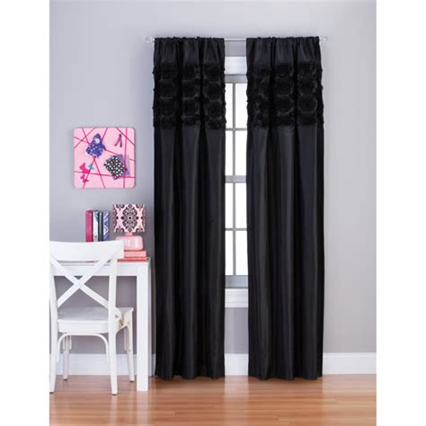 your zone curtains your zone rosette window panel walmart com