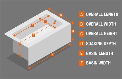 bathtub measurement bathtubs