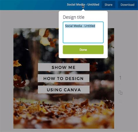 canva not saving renaming your design title canva help center