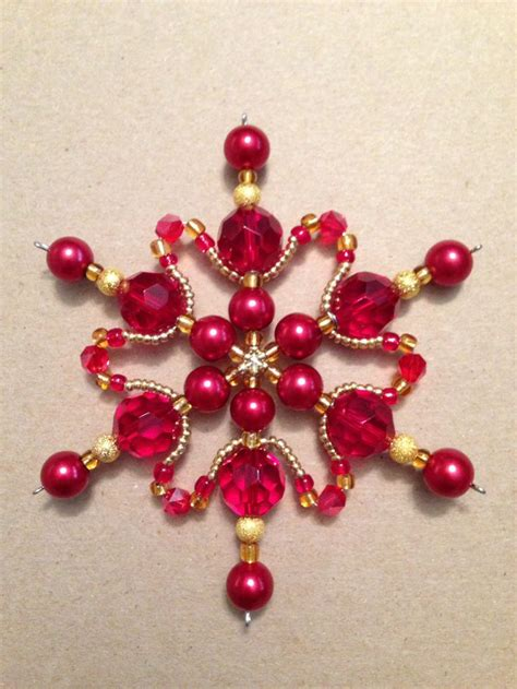 beaded snowflake ornaments best 4666 ornaments images on diy and crafts