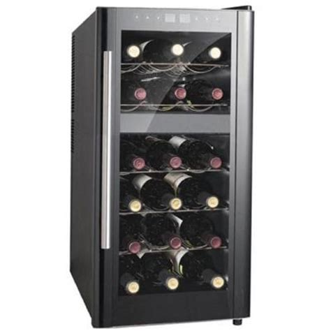 spt 13 1 2 in 18 bottle thermoelectric wine cooler with