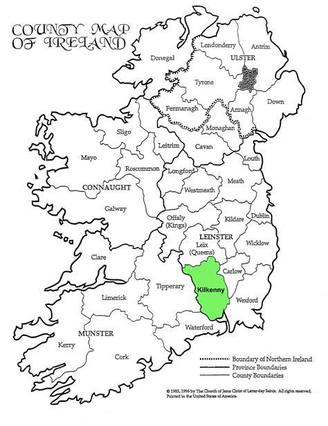 ireland county map kilkenny historical maps 171 maps 171 tobin family genealogy site
