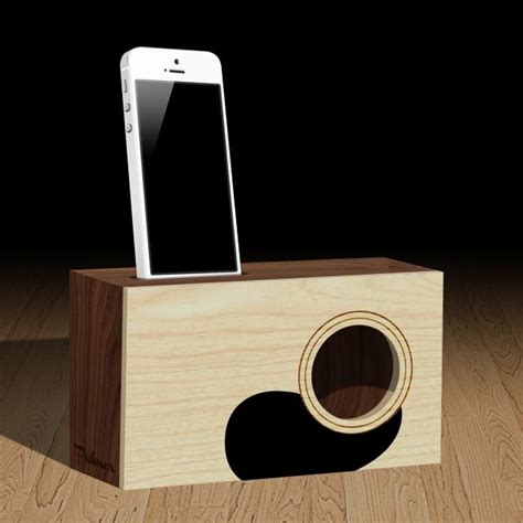 palmer acoustic iphone dock wooden speakers passive