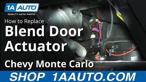 install replace ac heater temperature actuator