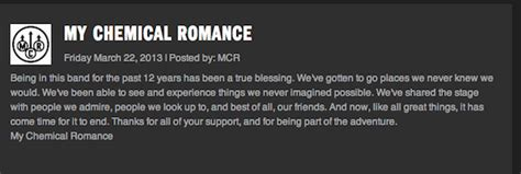 mcr up letter gerard my chemical not dead yet the new fury