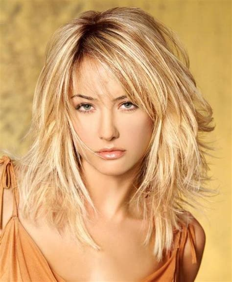 layered beachy medium length haircut hairstyles shoulder length layered for over 50 hairstyle