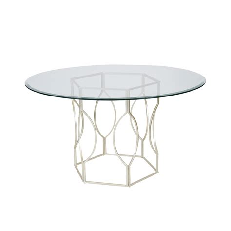 48 inch glass top dining table worlds away abigail silver leafed hex dining table with 48