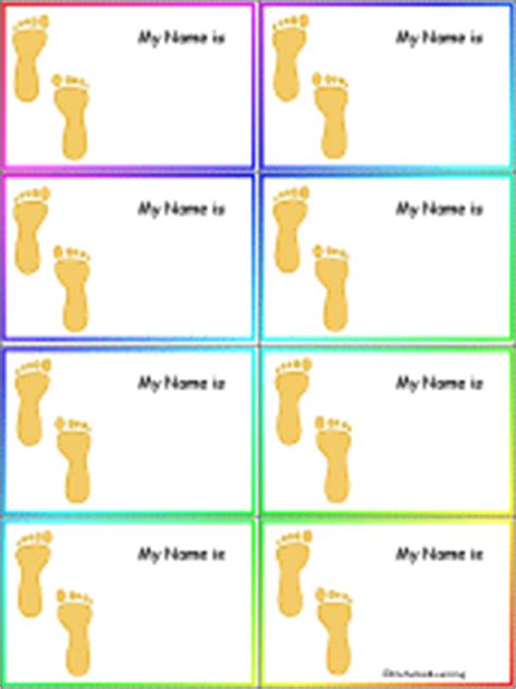 penguin nametags to print in color enchantedlearning com how i get to school footprints nametags to print in