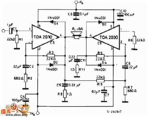 resistor gain power ocl tda2030 btl lifier circuit diagram lifier circuit circuit diagram seekic