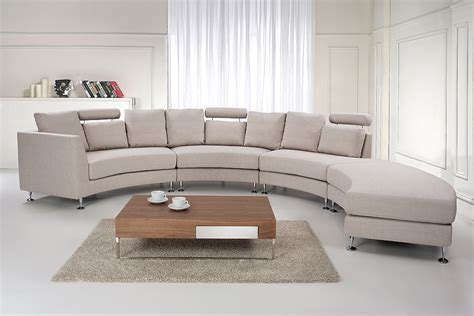 round settee furniture seven seater couch beige modular fabric round sofa
