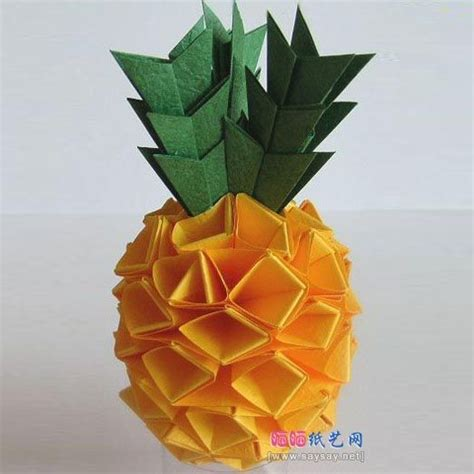 Paper Pineapple Craft - origami pineapple paper origami 3d