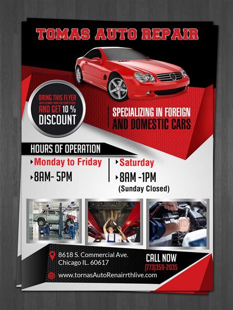 bold car repair flyer design  tomas auto