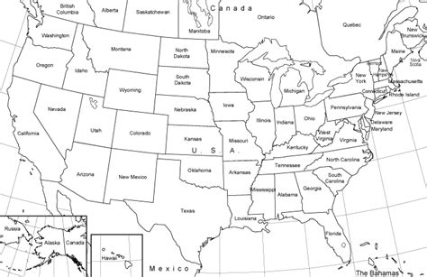 united states map black outline black and white united states map