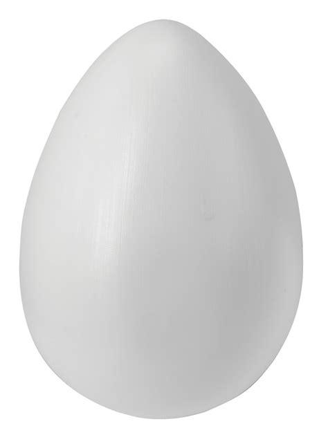 big white egg 17 x 11cm giant fake food