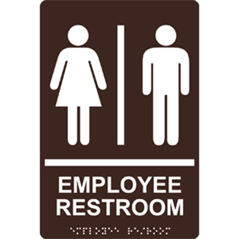 Only Bathroom Sign by Ada Employee Restroom Braille Sign Rre 805 Whtondkbn
