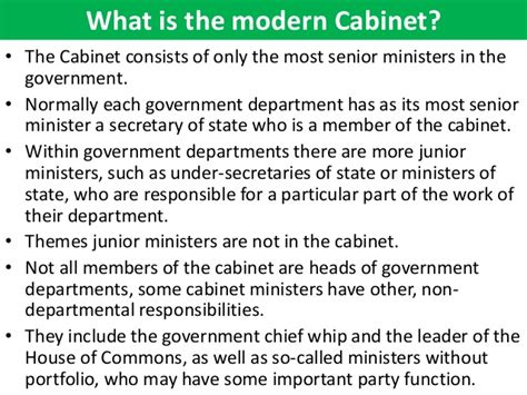 Political Cabinet Definition by The Cabinet