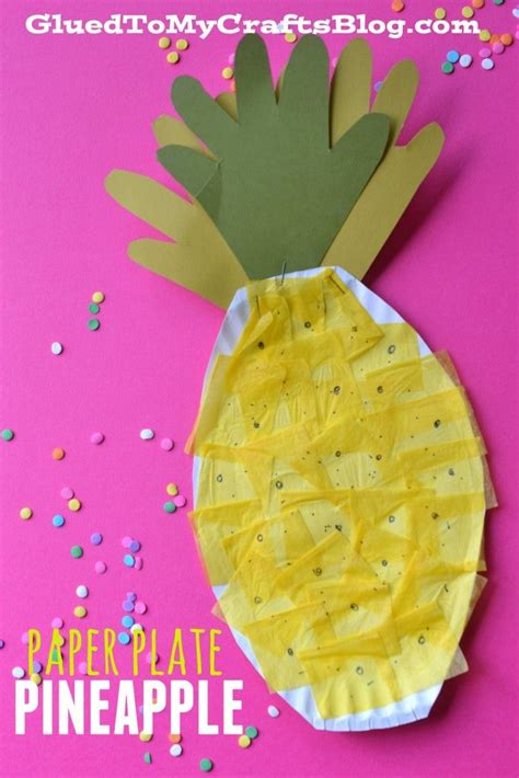 Paper Plate Crafts For Summer - paper plate pineapple kid craft summer crafts