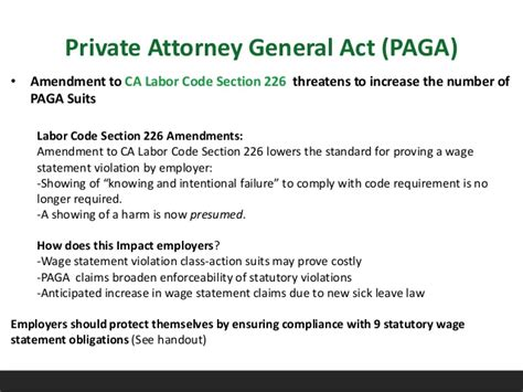 labor code section 226 labor and employment law update 12 10 15