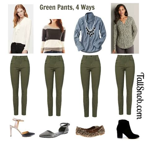 what looks with green pant so