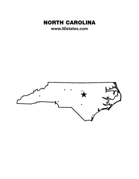 printable maps north carolina us states on map capitals with state abbreviations