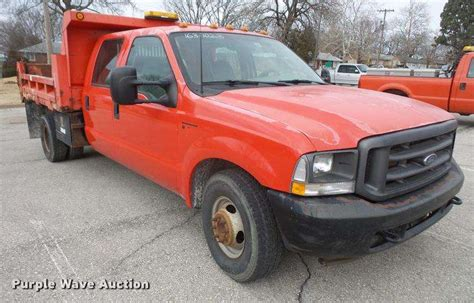 ford f350 truck bed for sale 2003 ford f350 super duty crew cab dump bed pickup truck