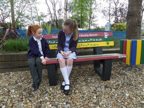 primary school benches 37 best buddy benches and friendship seats images on