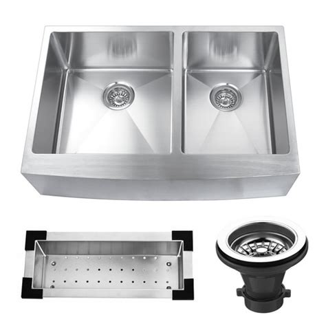 25 stainless steel kitchen sink kbc 33 quot x 22 25 quot stainless steel bowl farmhouse