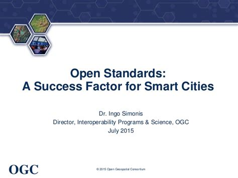 smart home consortium working for open standard open standards a success factor for smart cities