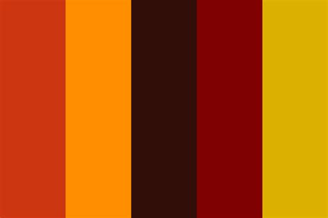 fall color pallette dark autumn color palette