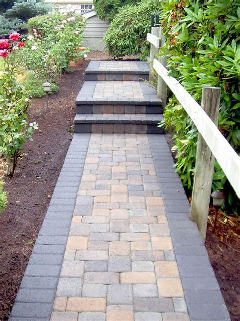 walkway paving stones pictures brick paver walkways system pavers paving pinterest