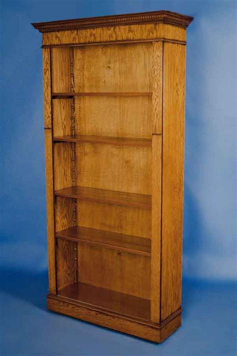 english oak open bookcase for sale antiques com