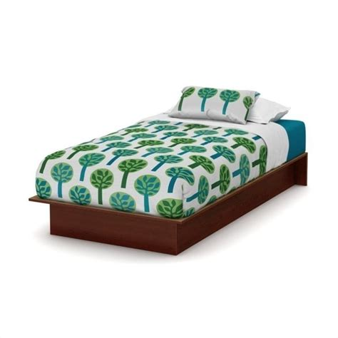 south shore twin platform bed south shore libra twin platform bed in royal cherry 3046235