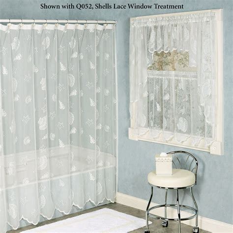 sea shell curtain seashells lace shower curtain