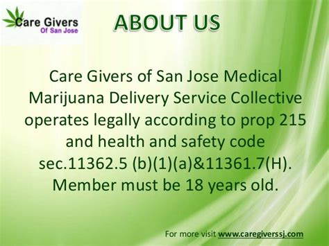 safety code section 11362 5 medical marijuana delivery care givers of san jose