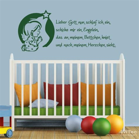 Wandtattoo Kinderzimmer Engel by Wandtattoo Kinderzimmer Lieber Gott Kindergebet Engel