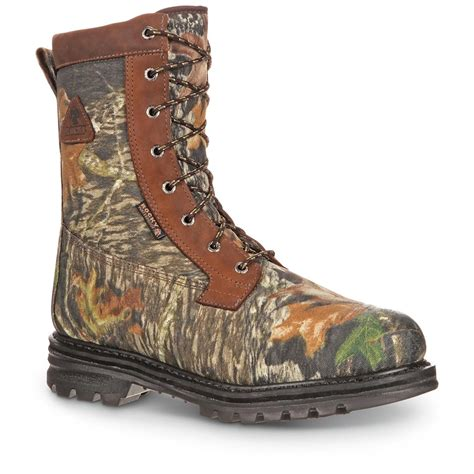 mossy oak boots rocky 8 quot waterproof 800 gram insulated boots
