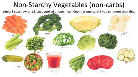 vegetables with 0 carbohydrates counting carbs non starchy vegetables non carbs type 2