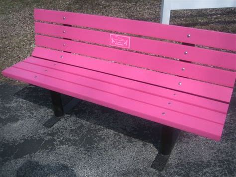 memorial benches canada pink memorial park bench recycled plastic lumber laser