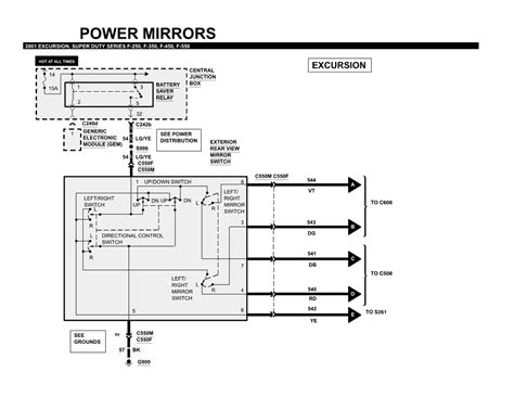ford excursion power mirror wiring diagram wiring