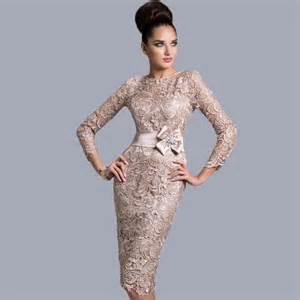 high quality vestido de renda knee length mother of the
