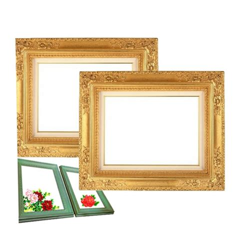 pu imitation brass frame unique design decorative frames