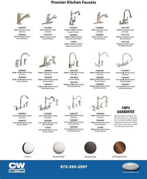 faucet types kitchen bathroom sink faucet types