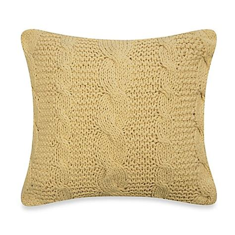 knit throw pillow cable knit throw pillow in ivory bed bath beyond