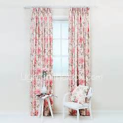 Floral Print Curtains Two Panels Pastoral Country Poly Cotton Floral Botanical Print Curtains Drapes 4461430 2017 53 99