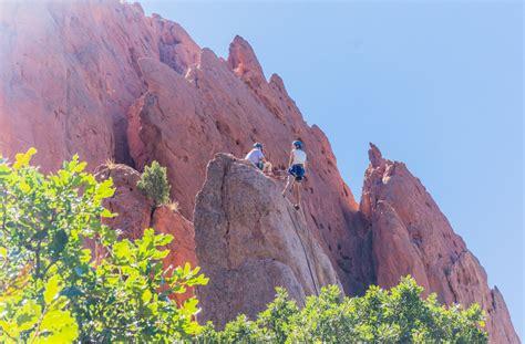 intro to garden of the gods rock climbing colorado