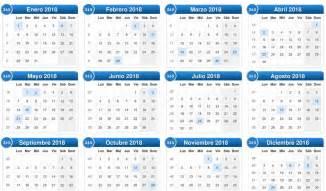Calendario Anual 2018 Calendario 2018 Con Semanas Numeradas Para Imprimir