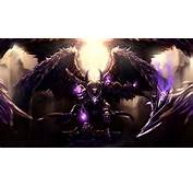 Wallpaper Thanatos – Hand Of Death Warrior Violet Wings Armor Art