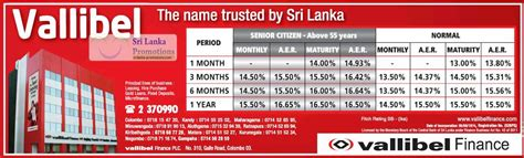 Letter Of Credit Charges In Sri Lanka Vallibel Fixed Deposit Rates 8 Jun 2012